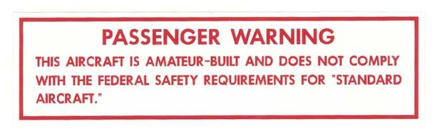 Passenger Warning