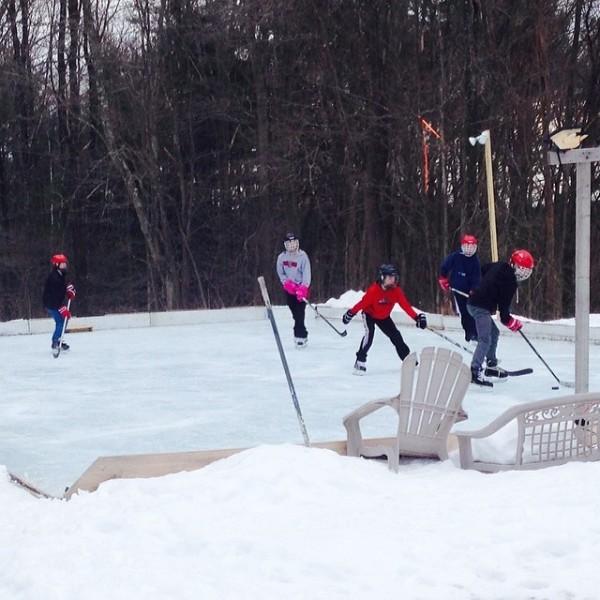 Hockey in the Backyard Rink
