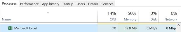 Excel Runaway Processes