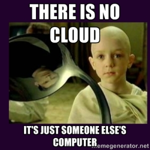 There is no cloud meme
