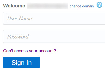 Change Password from Login
