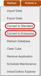 Create a Lite App - Options to Convert