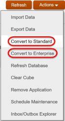 Create a Lite App - Options to Convert