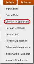 Create a Standard App - Options to Convert