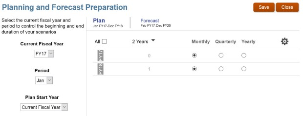 Planning and Forecast Prep - Plan