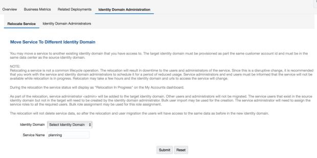Domain Relocation Service
