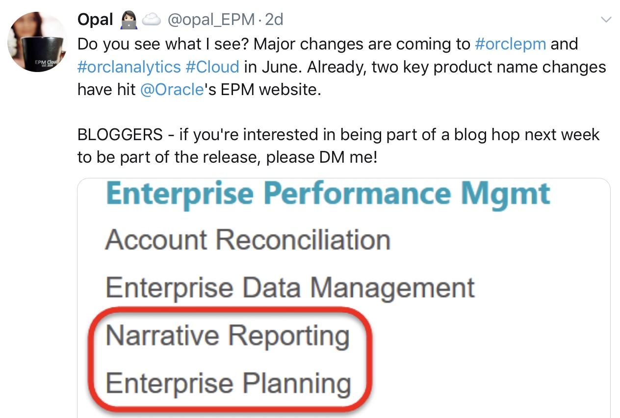 EPM Cloud Update: BIG June 2019 Changes! – woman in epm